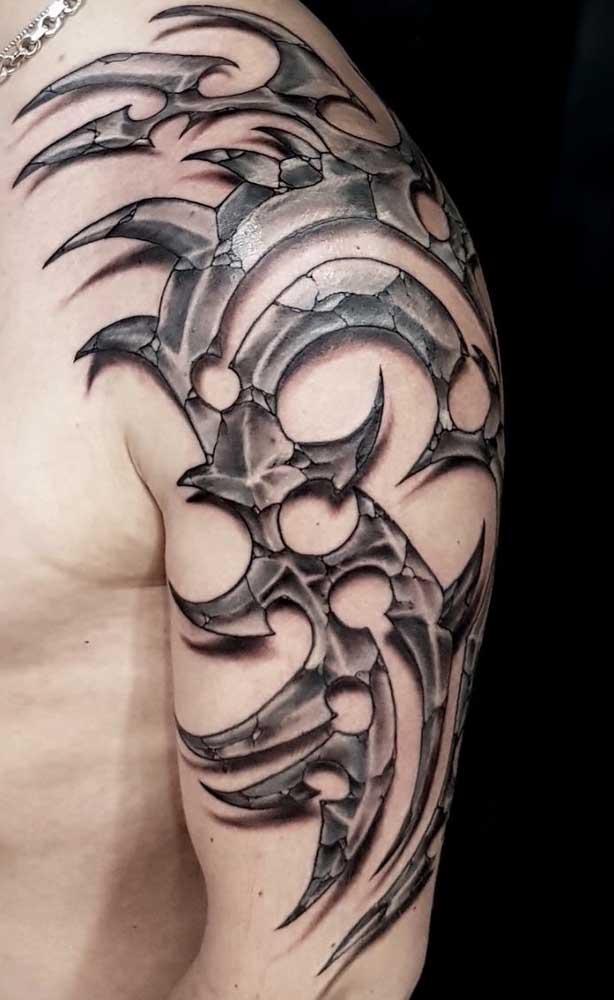 Uau! Essa tattoo parece até algo bem real.