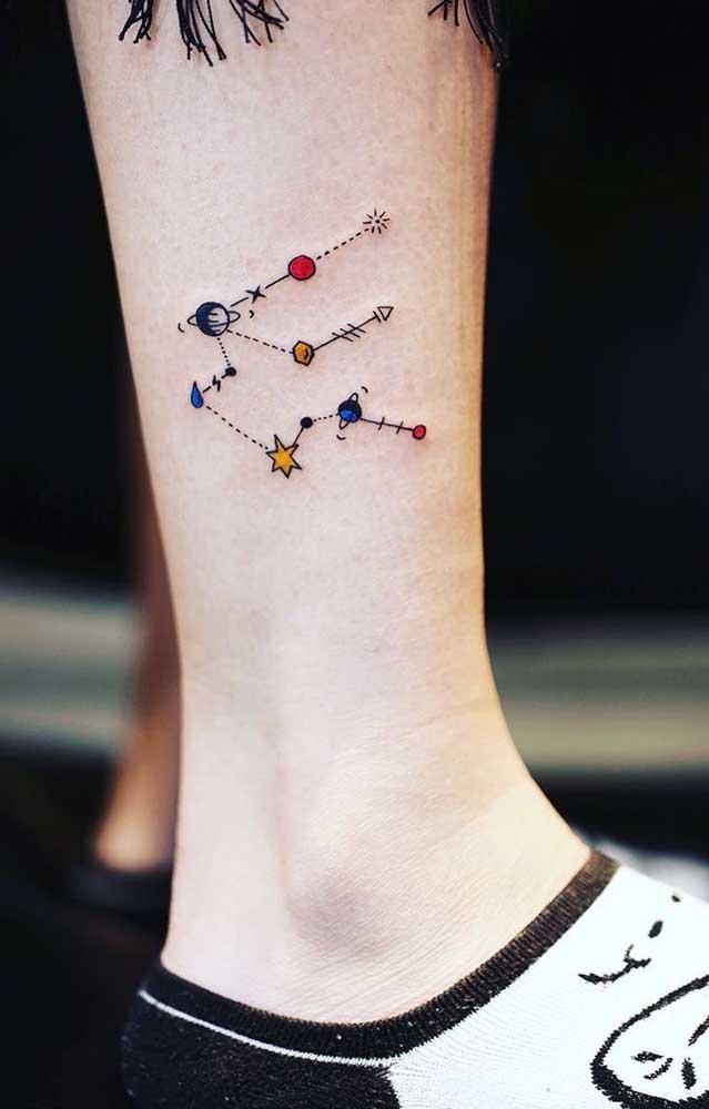A maioria das tatuagens tumblr são sempre com traços leves, simples e minimalistas.