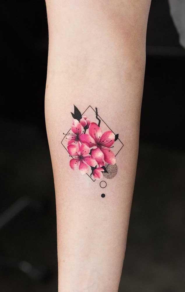 Na tatuagem tumblr é possível criar desenhos mais realistas por conta dos traços em 3D.