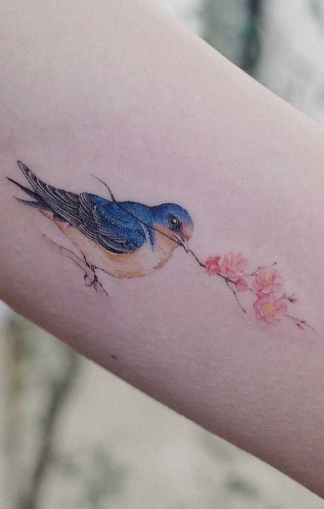 Quem sabe um passarinho pode ser o desenho que você esperava para a sua tattoo?