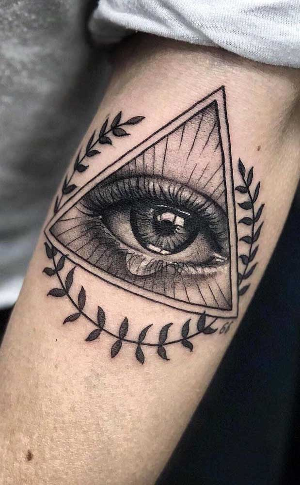 O olho é uma das figuras mais usadas na tatuagem realista.