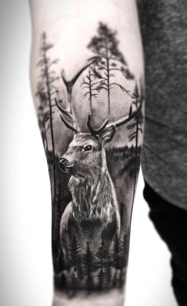 É incrível como a tatuagem pode ser algo bem realista.