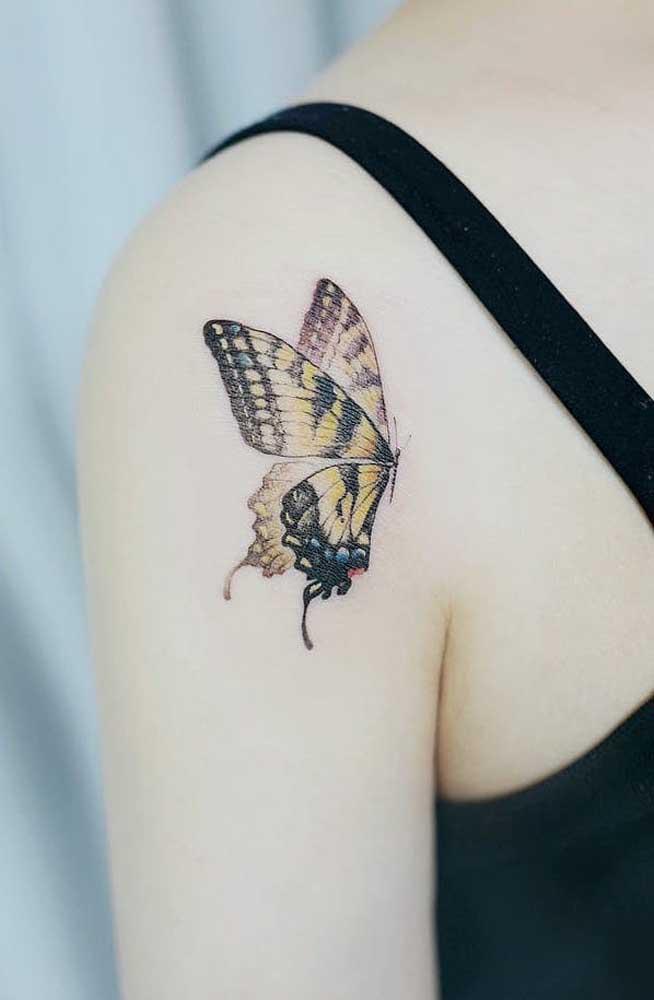 Se você está passando por uma transformação, nada melhor do que tatuar a borboleta.