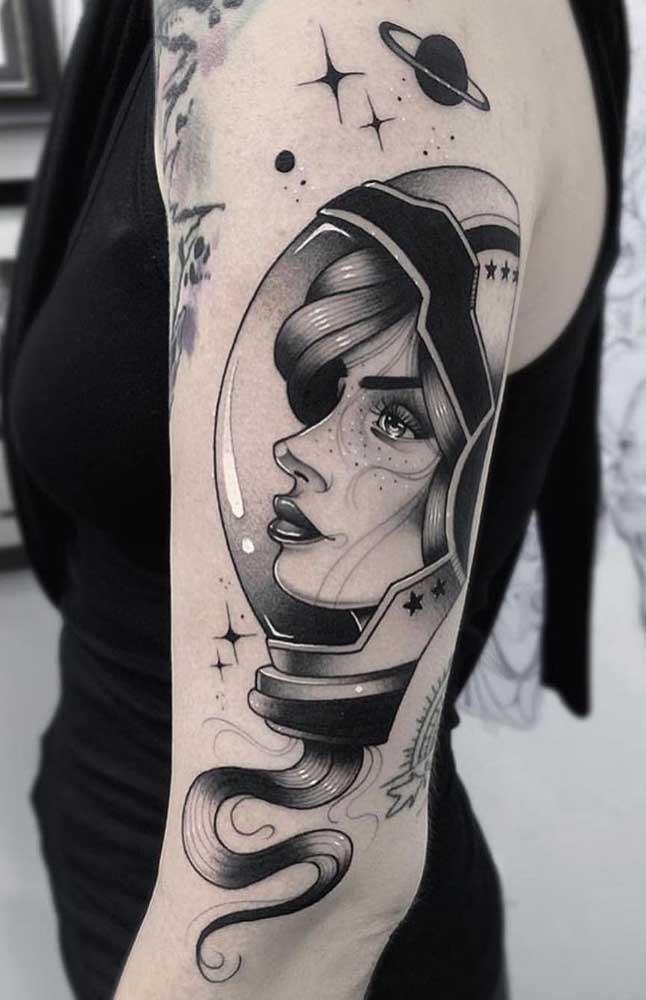 Que desenho genial para fazer uma tatuagem sombreada no braço.