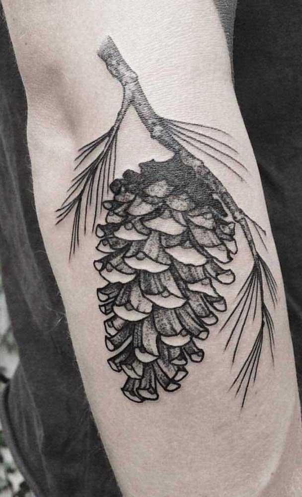 Até um cacho de frutas você pode tatuar.