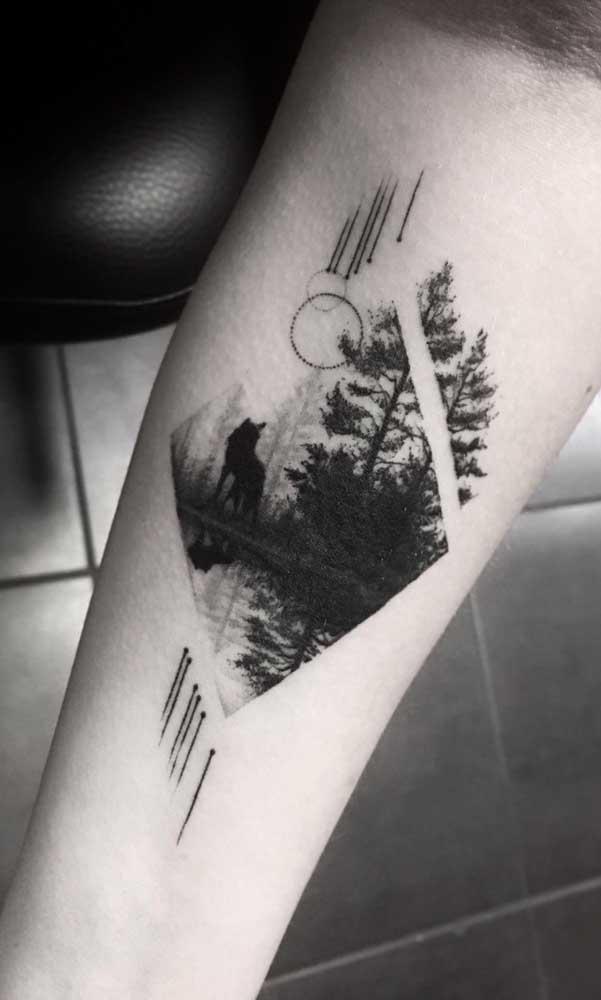 Você pode usar uma imagem para fazer uma tatuagem sombreada.