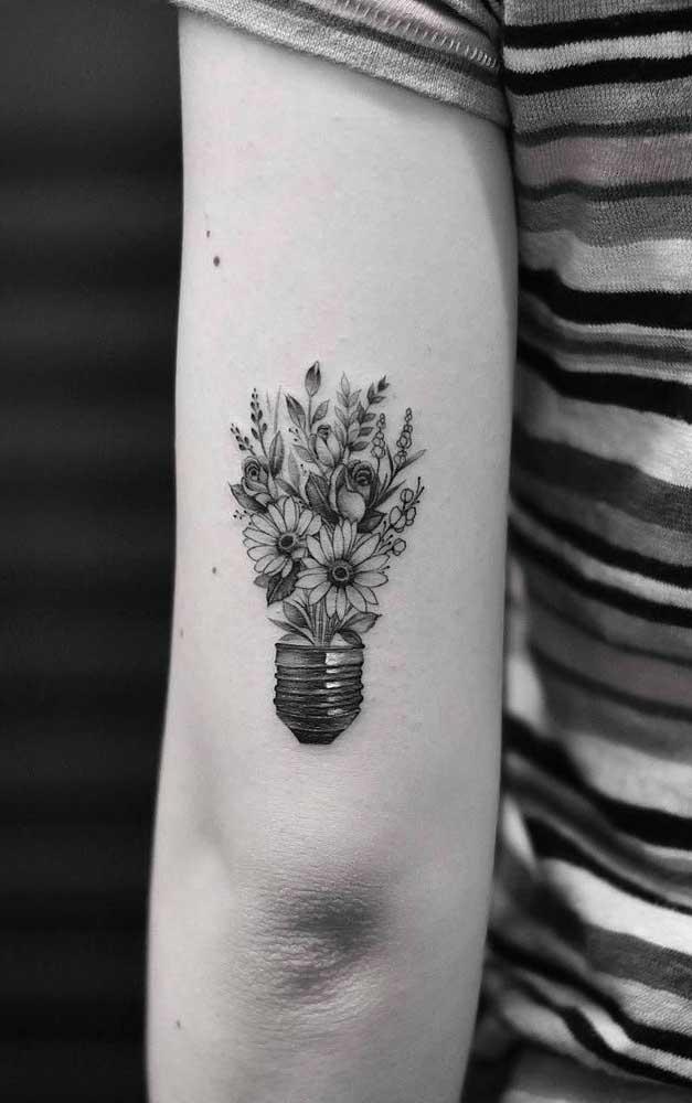 Ou uma lâmpada no formato de flores?