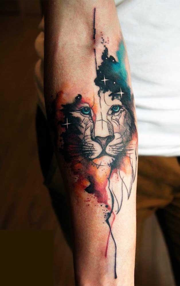 Olha que desenho lindo para uma tatuagem sombreada.