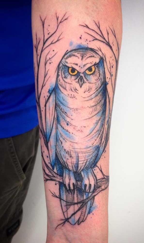 Que tal desenhar uma coruja para a sua tattoo?