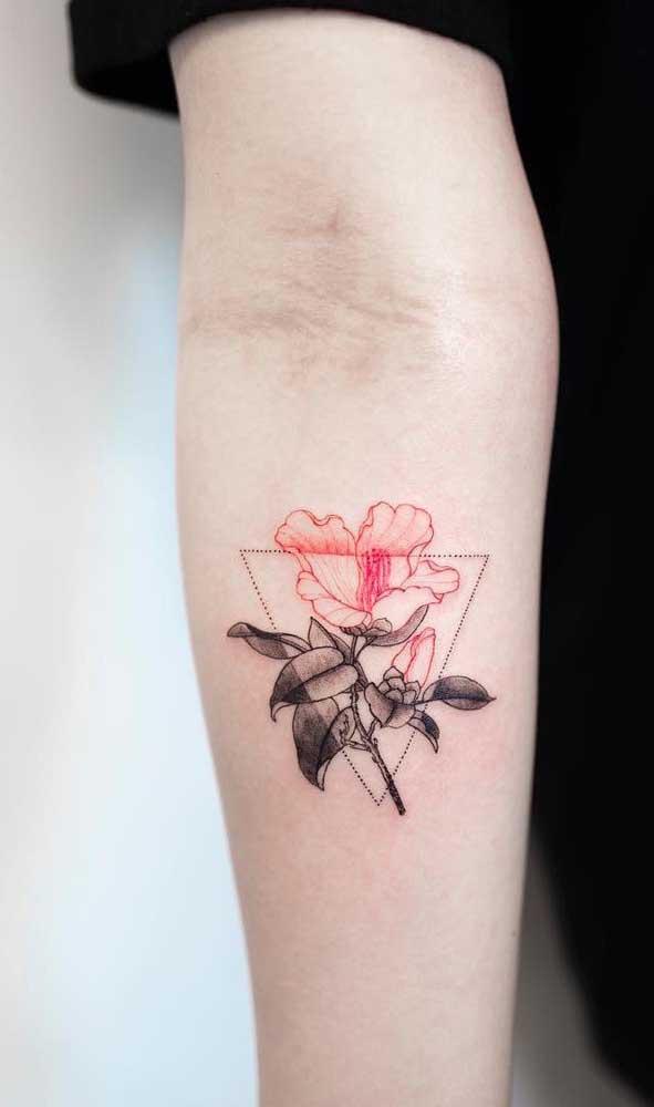 Mais uma opção de tatuagem sombreada rosa perfeita para qualquer pessoa.