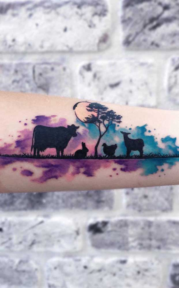 Que tal eternizar uma bela paisagem na sua tattoo?