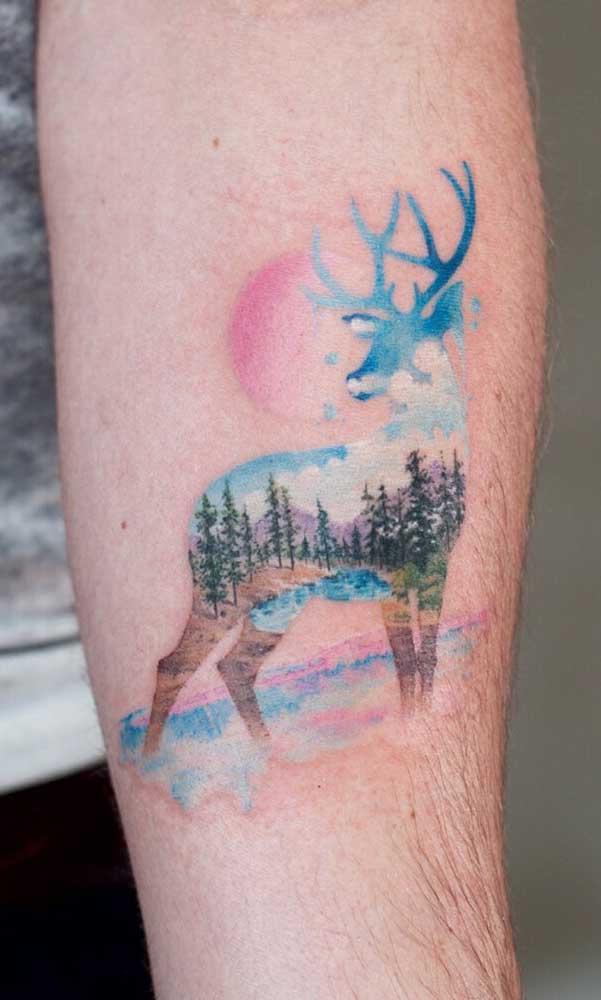 Escolha a figura certa para a sua tatuagem aquarela.