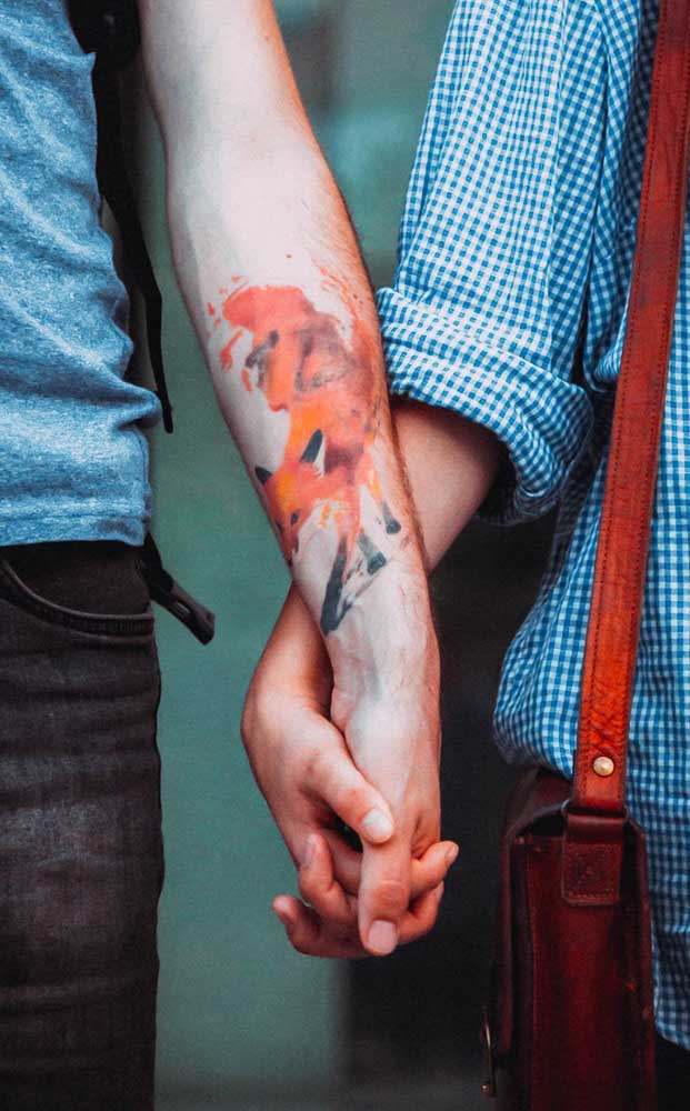 Alguns desenhos são mais indicados para fazer a tatuagem aquarela.