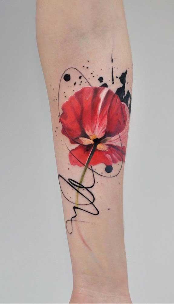 Veja que rosa mais perfeita para tatuar no seu corpo.