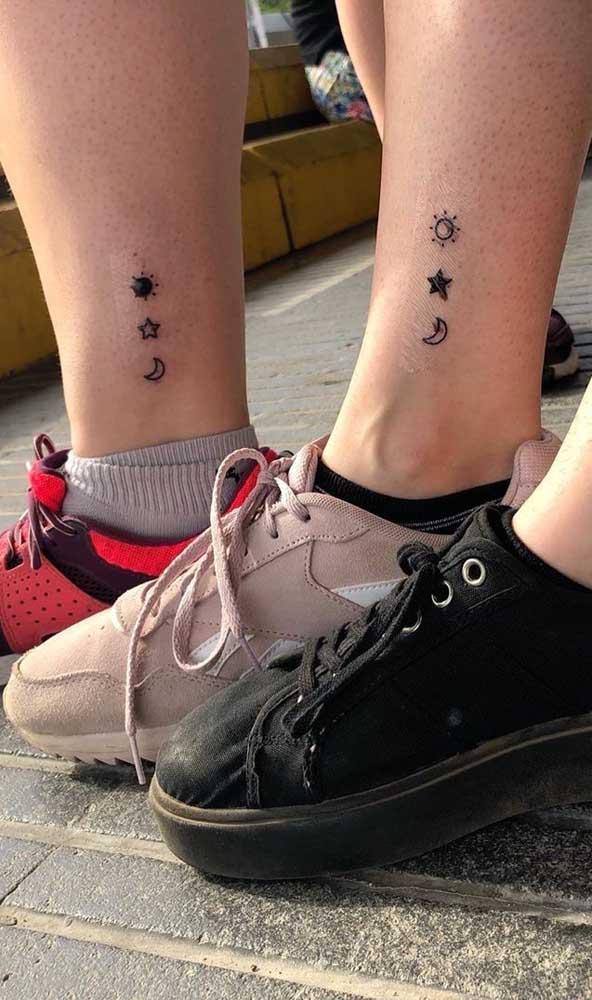 Que tal fazer uma mesma tatuagem para 3 irmãs?