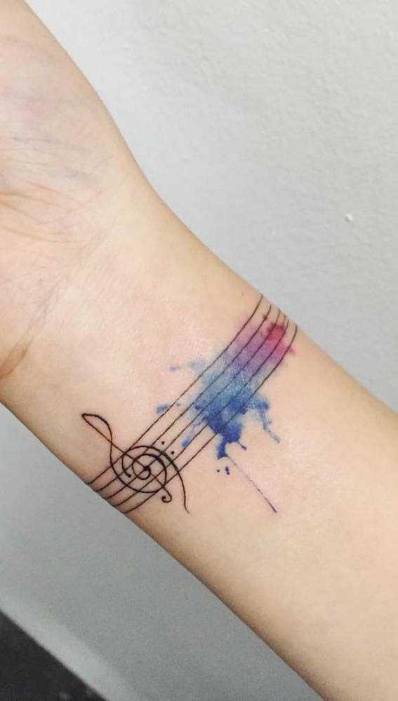 Você é um apaixonado pela música? Que tal tatuar uma nota musical?