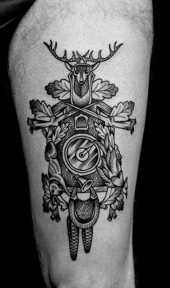 Alguns desenhos só são entendidos pelo dono da tatuagem.