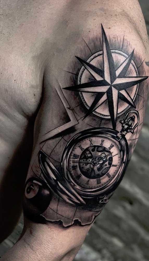 O mais importante é que a tatuagem de relógio seja feita conforme seu estilo e personalidade.