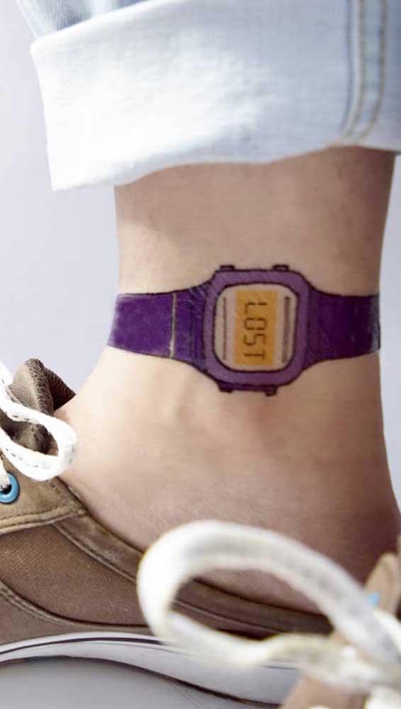 Ao invés de colocar o relógio no pulso, coloque o relógio no tornozelo.