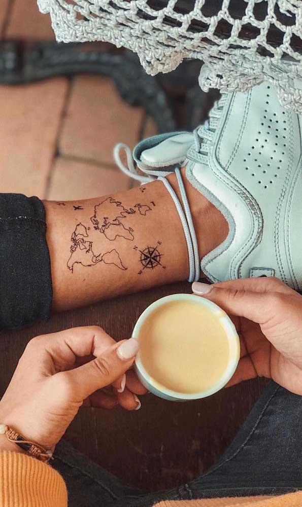Porém, é possível fazer esse tipo de tatuagem até no tornozelo.