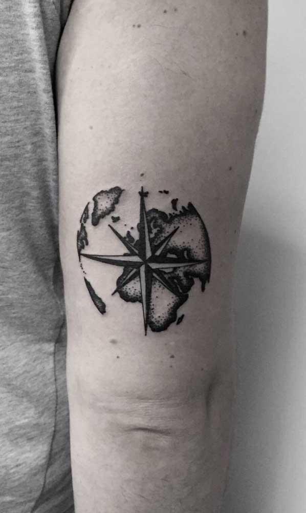Mas o braço ainda é a região preferida para fazer esse tipo de tattoo.