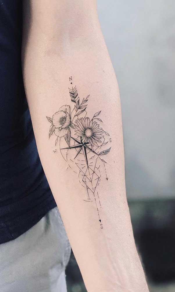 Mas acrescente outros elementos para deixar a tattoo mais linda.