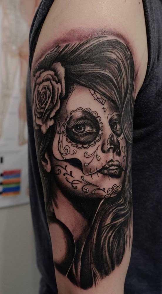 Assim como uma tatuagem catrina masculina.
