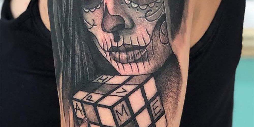 Tatuagem Catrina Origem Significado Estilos E Fotos Inspiradoras