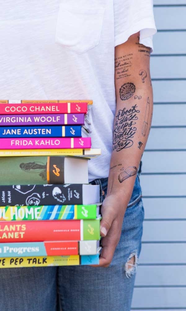 Será que o livro é a grande paixão dessa pessoa?