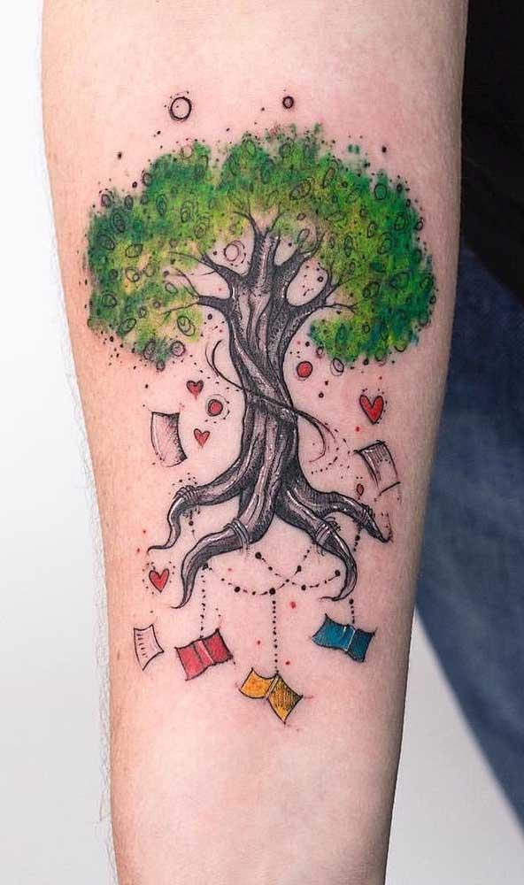 E se o que caísse de uma árvore fossem apenas livros com seus conhecimentos?
