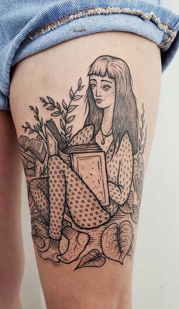 Use a criatividade para fazer a sua tatuagem de livros.