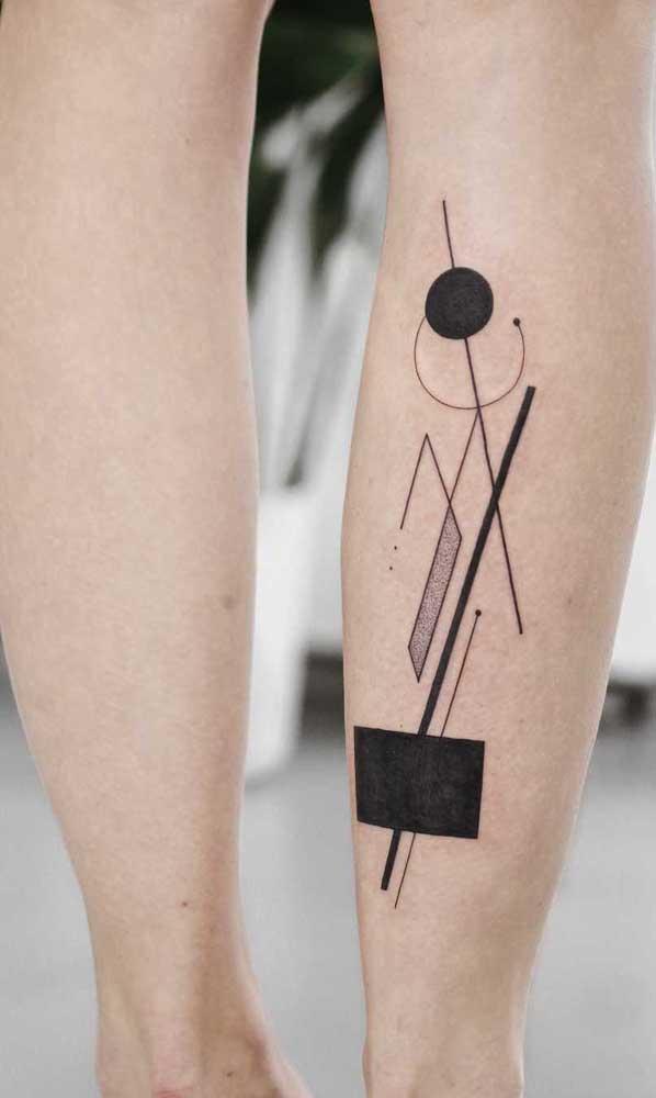 Desenhos abstratos e geométricos podem servir de inspiração para a sua tattoo.