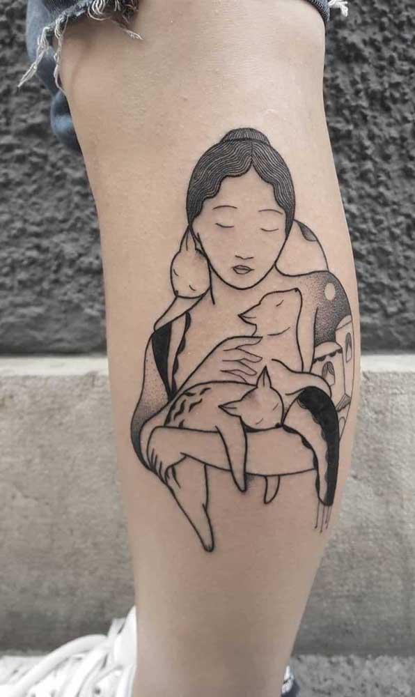 Já sabe o que vai desenhar na sua tatuagem na panturrilha?