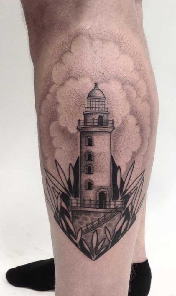 Ou faça uma tatuagem na panturrilha feminina escrita.
