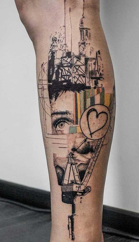 Quer inspiração para fazer a tatuagem na panturrilha?