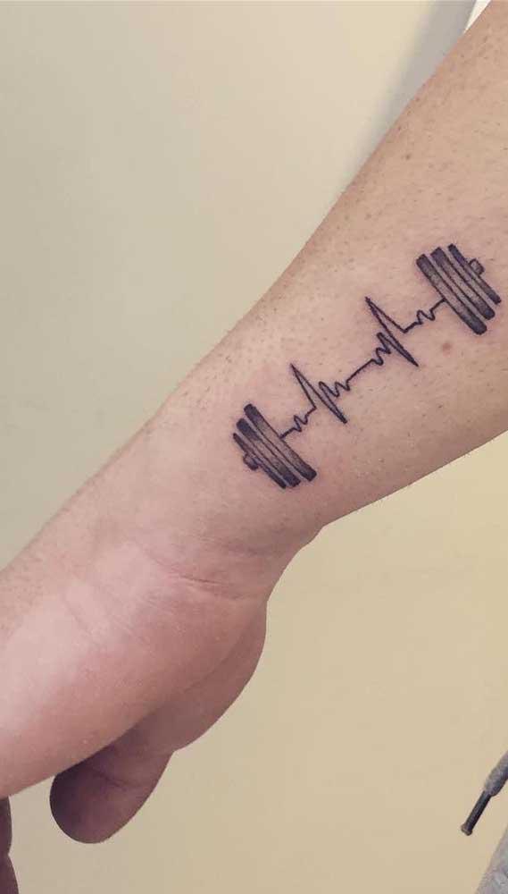 Se você tem algum hobbie que adora praticar pode acrescentar o símbolo dele com o batimento cardíaco.