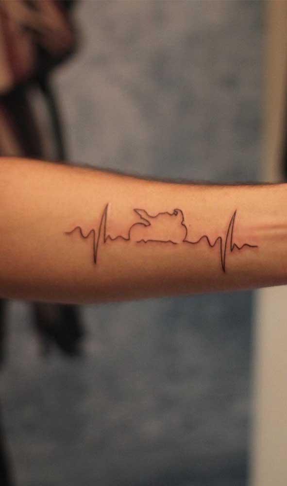 O batimento cardíaco representa a linha da vida.