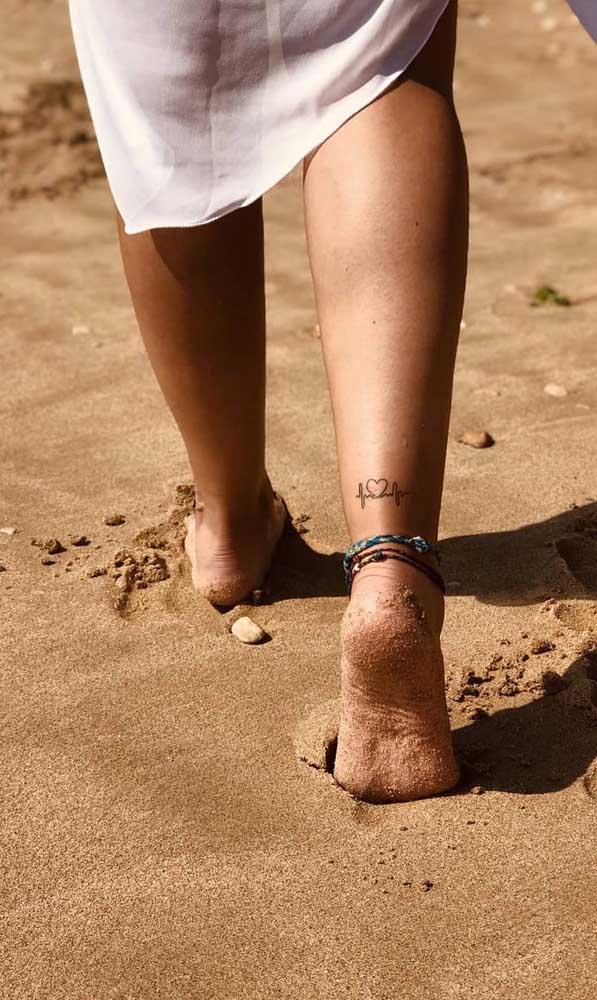 O batimento cardíaco pode ser uma tatuagem diferenciada.