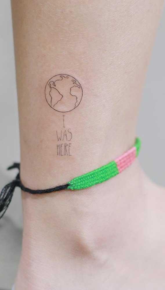 Os viajantes podem usar a tatuagem fofa para informar onde esteve.