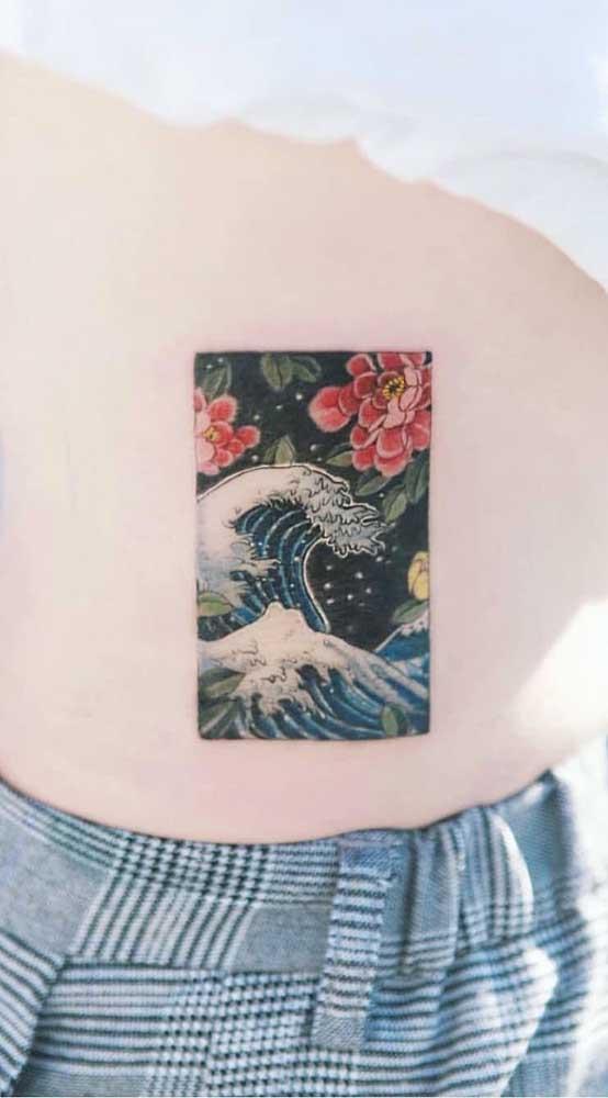 Uau! Veja que tatuagem que mais parece uma foto ou pintura.