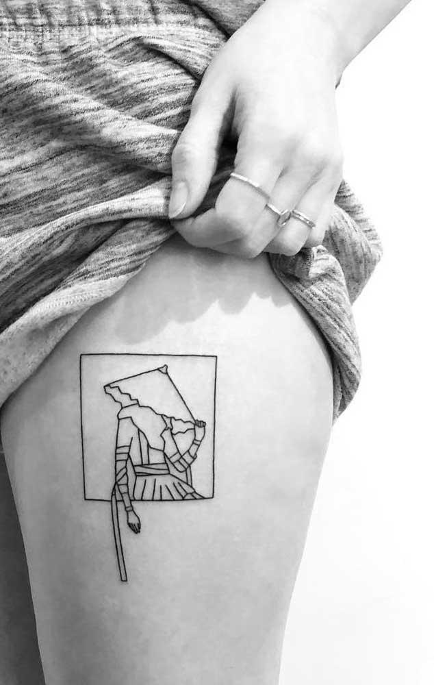 Pode fazer tatuagem na coxa sem preocupação com a cicatrização.