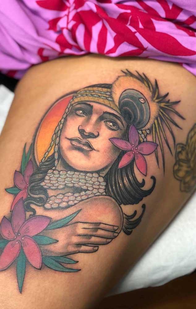 O que acha de tatuar suas raízes na coxa para que todos vejam de onde você vem.