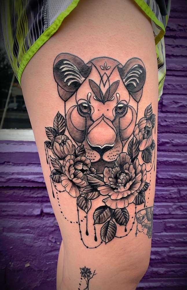 Qual o tamanho da tatuagem na coxa você pretende fazer?