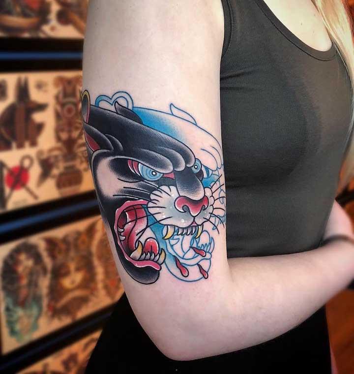 Já pensou em fazer uma tatuagem old school como essa?