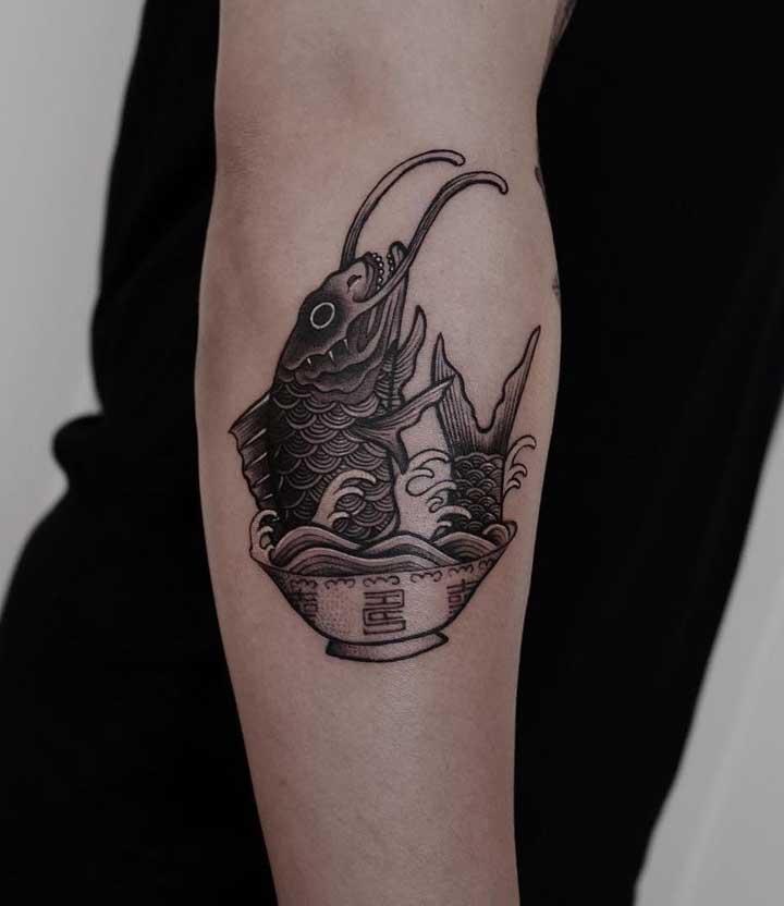 As figuras mais inusitadas podem servir de inspiração para tattoo old school.
