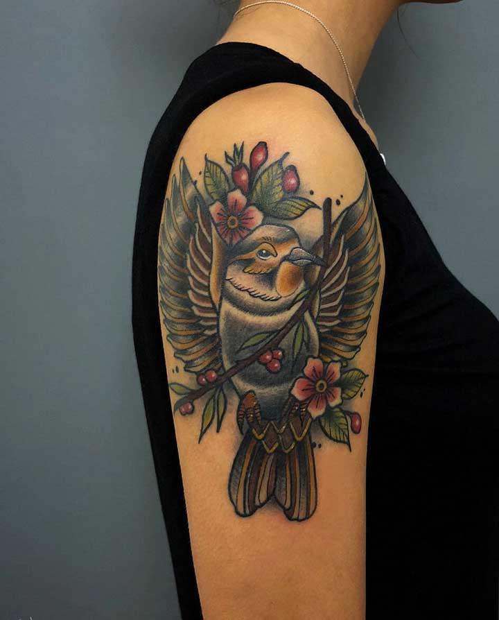 Você pode fazer a tatuagem do tamanho que quiser seguindo o estilo old school.