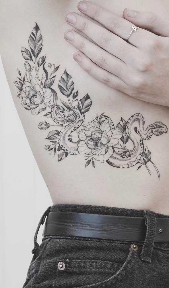 Para os homens que apreciam serpentes e flores