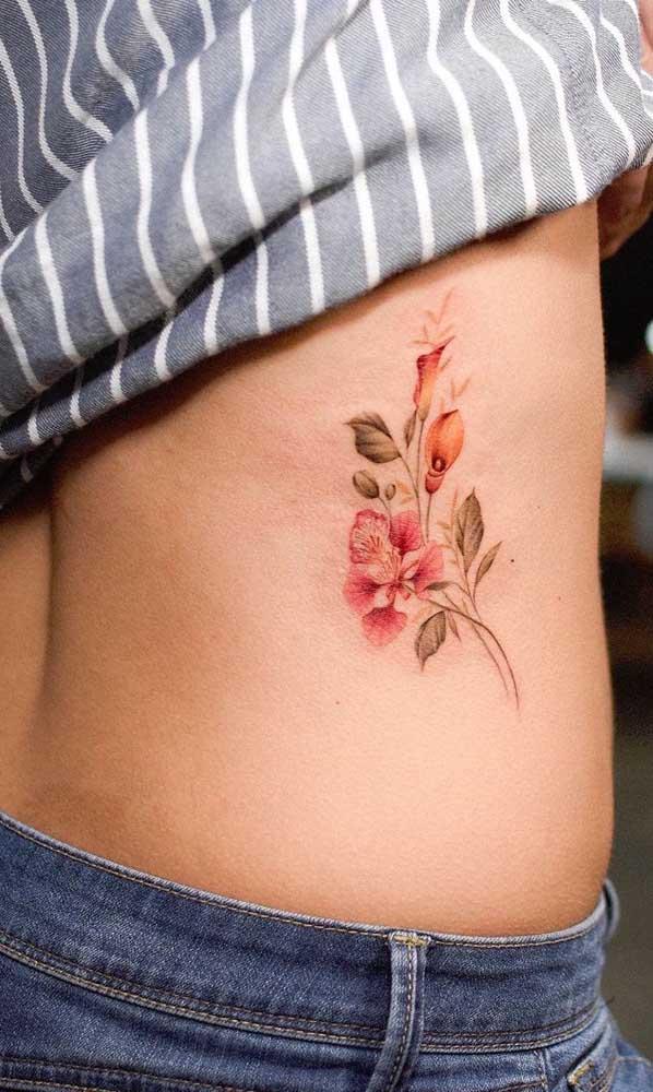 Tatuagem na costela realista