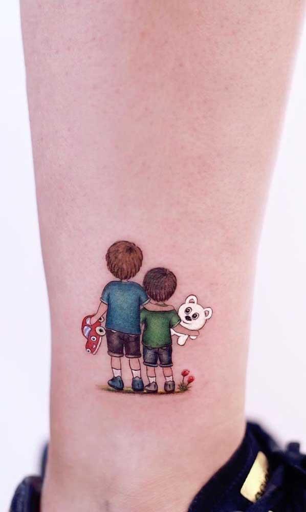 O amor entre os irmãos também merece ser tatuado