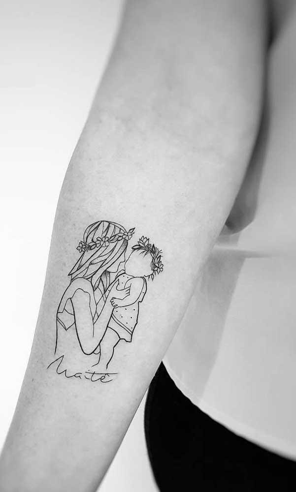 Tatuagem para filha: inspiração romântica e delicada
